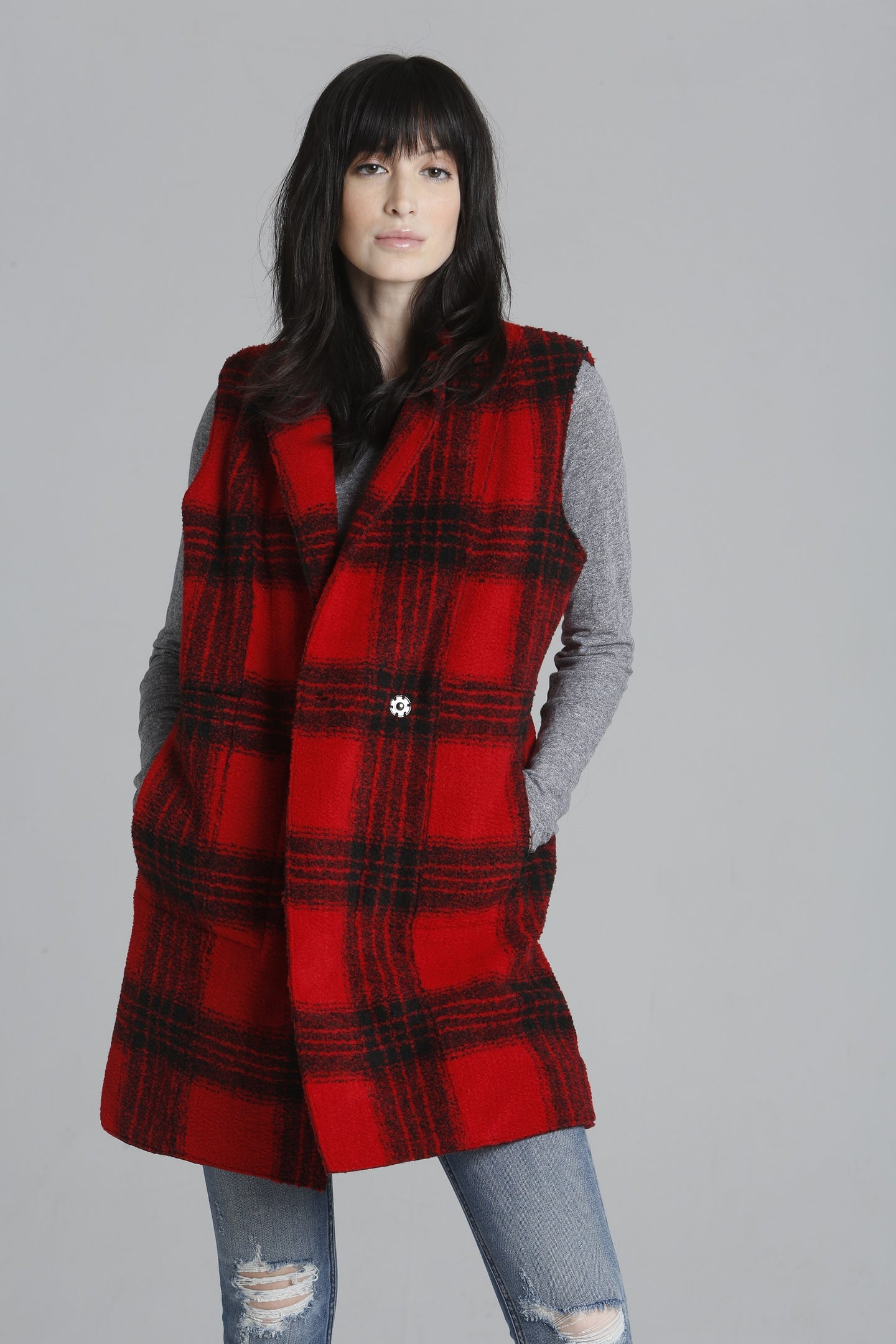 Plaid Cozy Vest