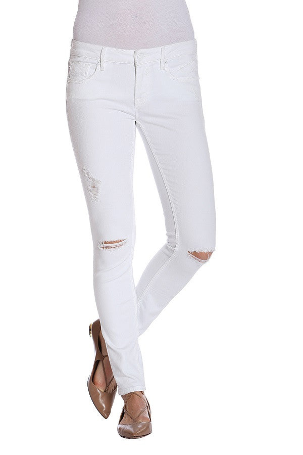White Destructed Skinny Jagger (New Arrival)