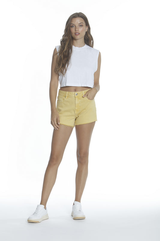 Ace High Rise Short - Yellow