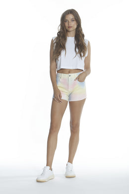 Ace High Rise Short - Tie Dye