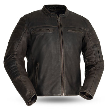 Commuter - Men's Motorcycle Leather Jacket (Brown)