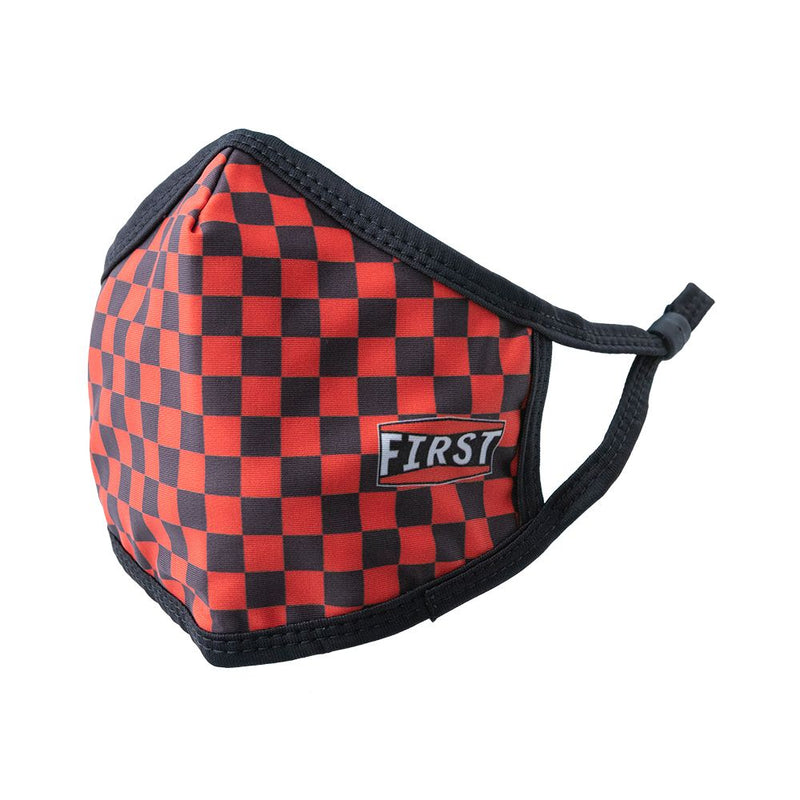 Orange & Black Checkerboard Face Mask - (5Pcs Pack)