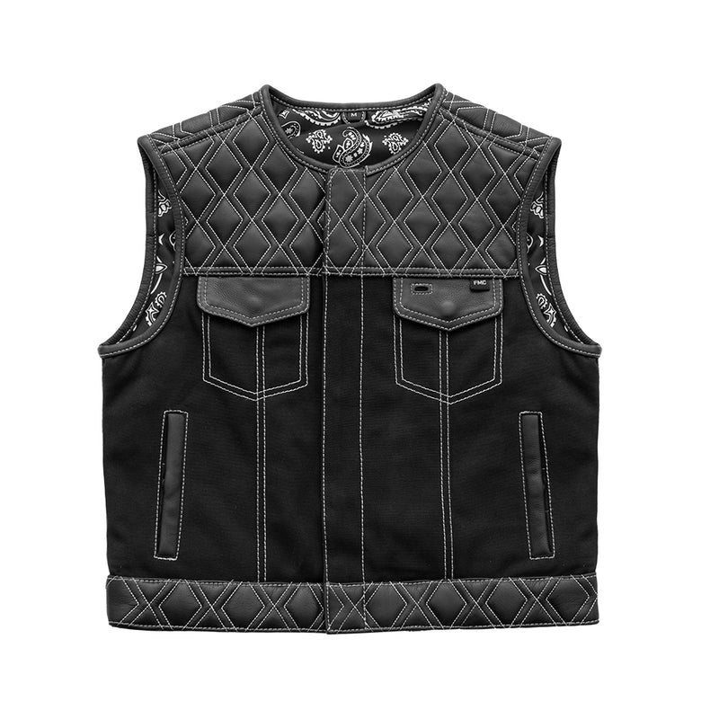 Stinger - Men's Club Style Leather/Canvas Vest (Limited Edition)