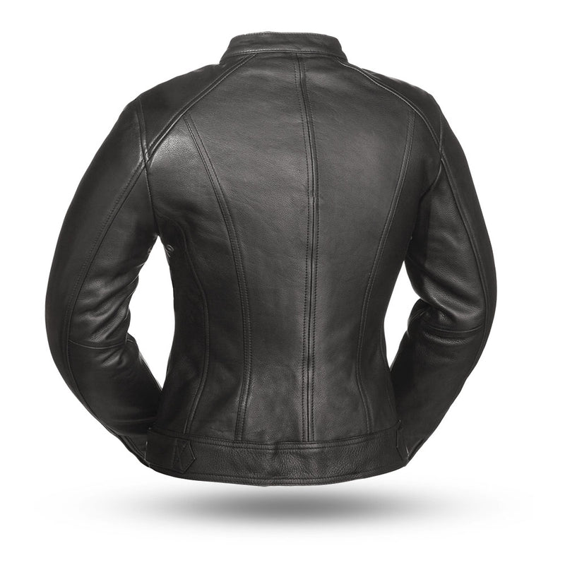 The Fashionista - Women's Motorcycle Leather Jacket