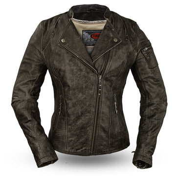 Jasmin - Women's Leather Motorcycle Jacket