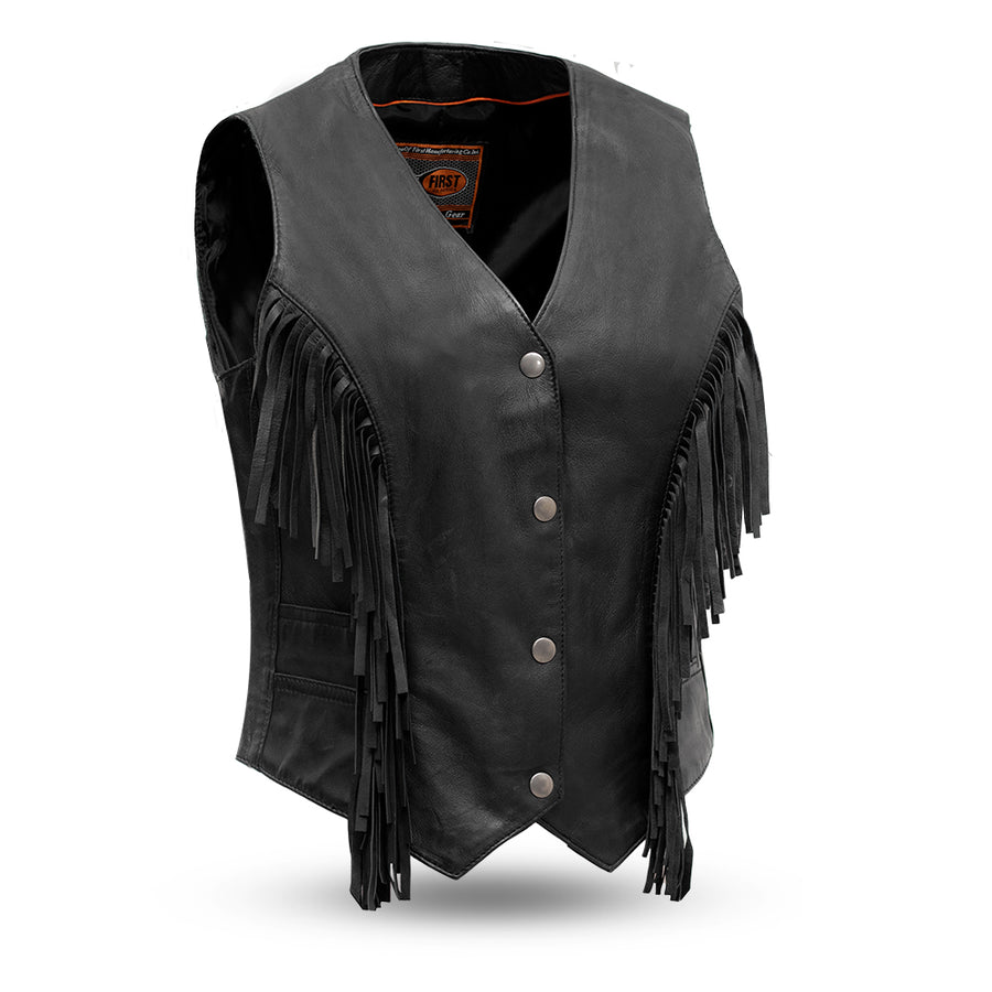 Apache - Women's Fringe Leather Vest