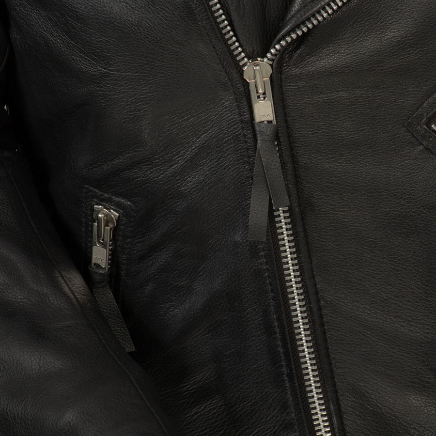 Fillmore - Men's Leather Motorcycle Jacket (Black)