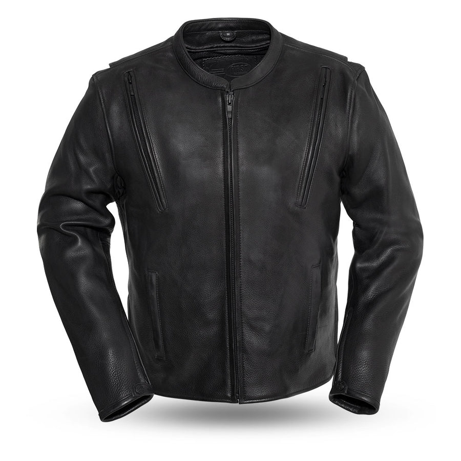 Revolt - Men's Motorcycle Leather Jacket