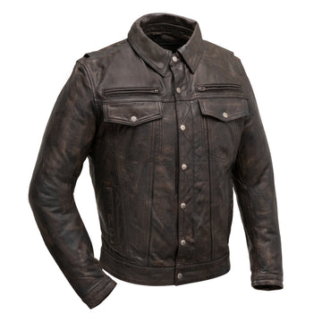 Villain - Men's Leather Motorcycle Jacket