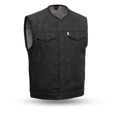 Murdock - Men's Motorcycle Denim Canvas Vest