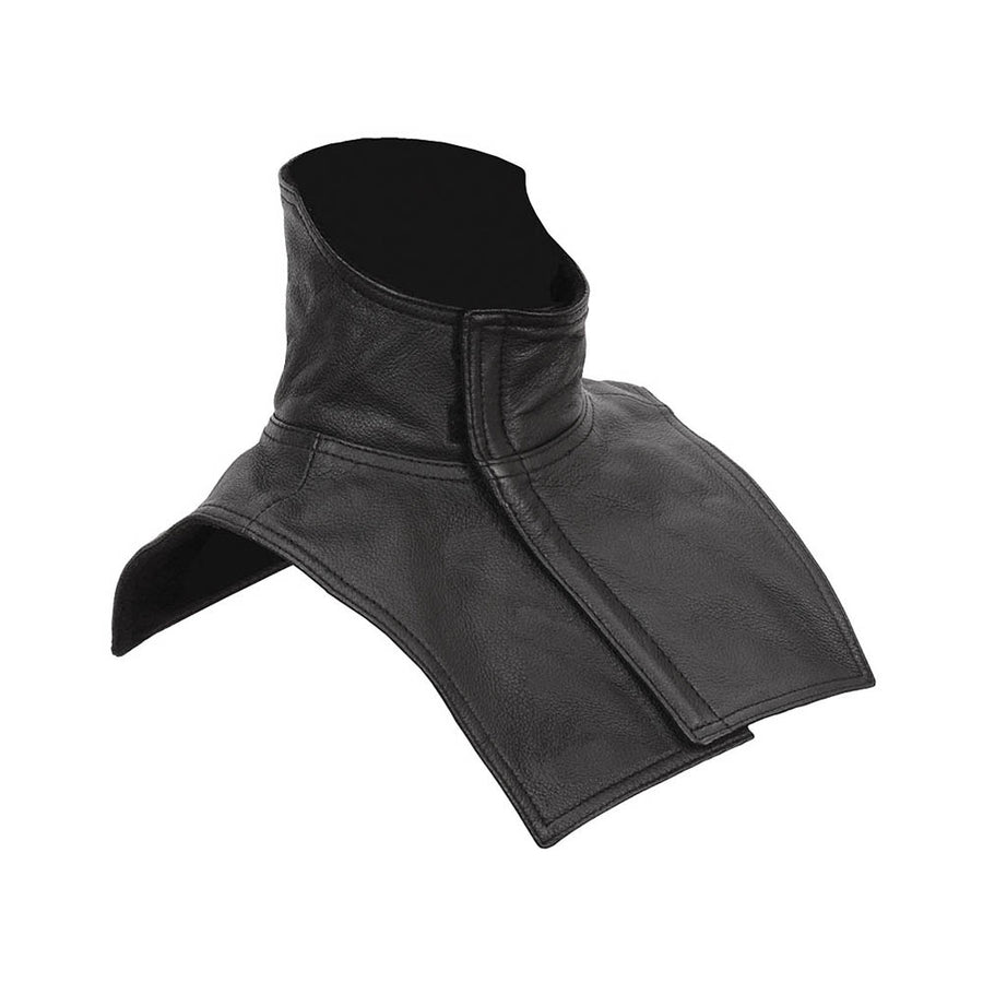 Leather Neck & Chest Warmer For Motorcycle Riders | FINWRMGL