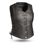 The Honey Badger - Women's Motorcycle Leather Vest