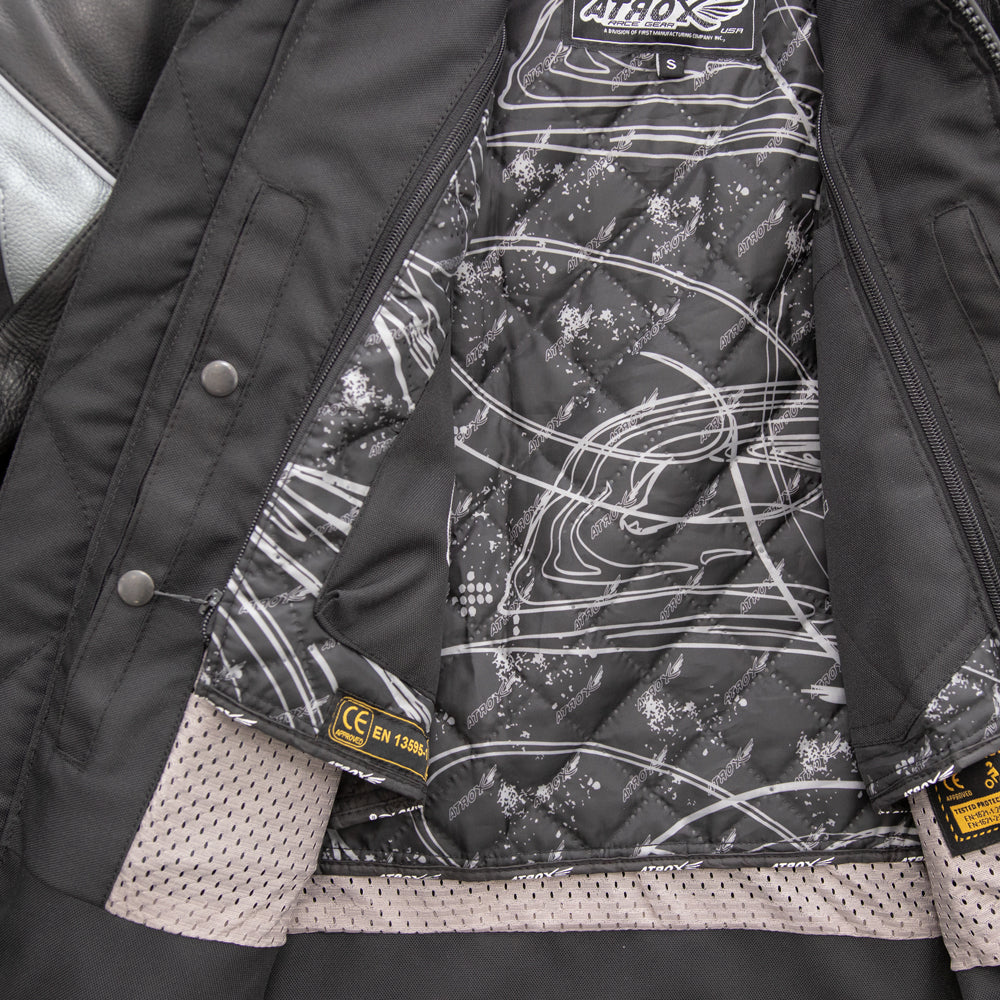 Leather Cowhide Racing Jacket