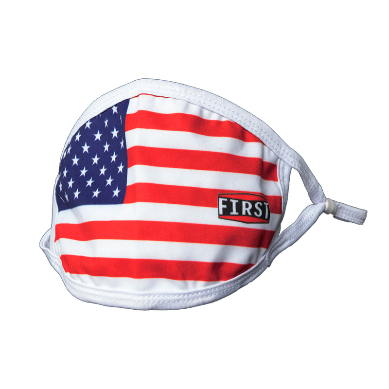 2-Ply USA Flag Reusable Non-Medical Breathable & adjustable Ear Loops Face Masks (5-Pcs Pack)