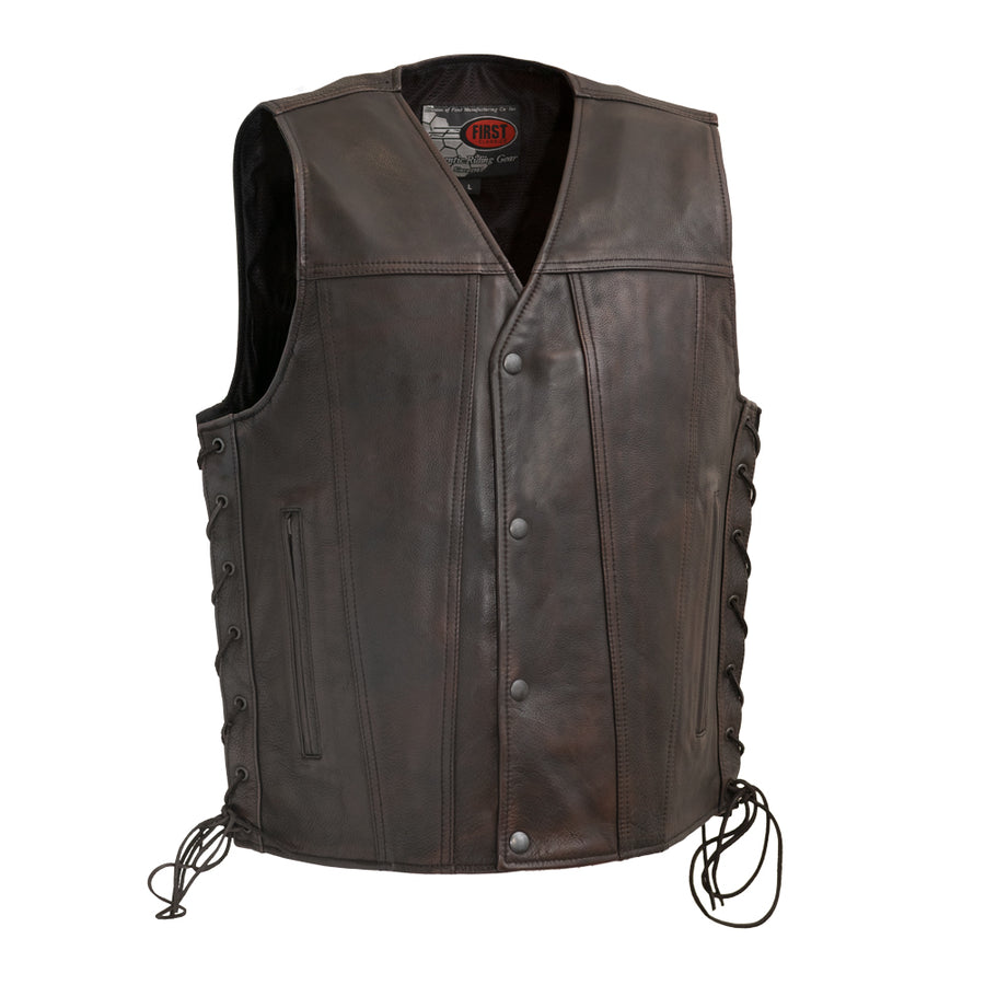 High Roller - Men's Leather Motorcycle Vest