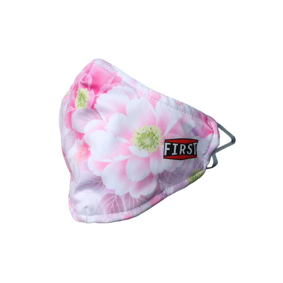 White and Pink Floral Face Mask (5pcs pack)
