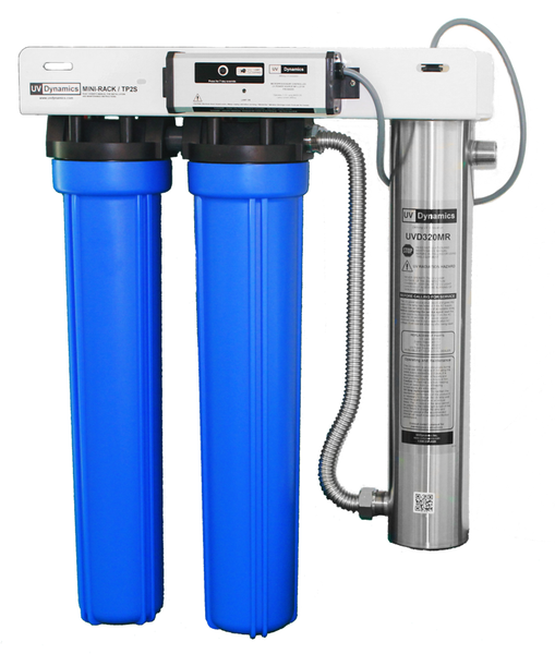 h20parts2go.com UV Dynamics Whole House Water Filter System,20'',2,UVD 320E,4.5'' x 20'',10gpm or (37L/min) ,MR320E-TP2/220