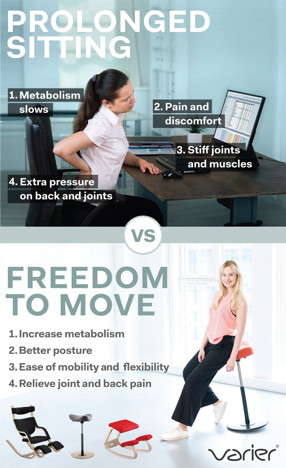 Varier Freedom To Move No Back Pain