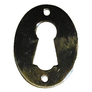 025 oval escutcheon in brass - ABC Ironmongery