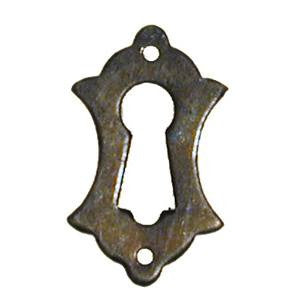068 vertical escutcheon in antique brass - ABC Ironmongery