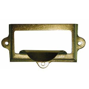1036 brass card holder frame with pull - ABC Ironmongery