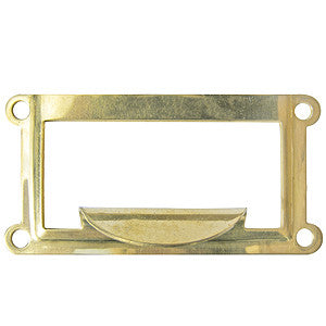 1038 brass card holder frame with pull - ABC Ironmongery