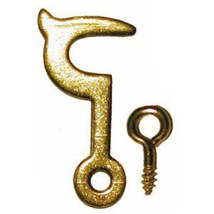 1070 brass side hook and eye - ABC Ironmongery
