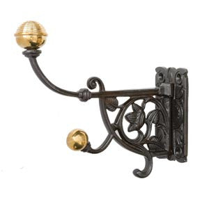 "Victorian-style hat and coat hook 4½"" in cast iron - ABC Ironmongery"