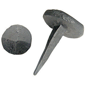 Decorative studs, 25mm long. Forge blackened (pack of 25) - ABC Ironmongery