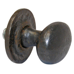 "Oval cast iron knob 1½"" x 1"" - ABC Ironmongery"