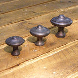 Cast iron embossed knob in 3 sizes 30mm, 35mm and 40mm - ABC Ironmongery