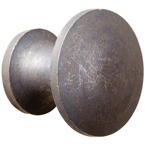 Cast iron plain round knob - ABC Ironmongery