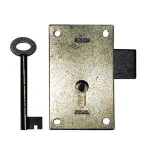 Straight cupboard lock in steel - ABC Ironmongery