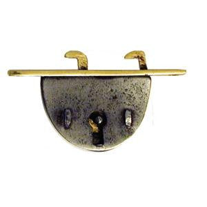 "Writing slope lock, brass. ⅝"" to pin - ABC Ironmongery"