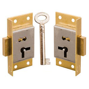 Cut cupboard lock in brass - ABC Ironmongery