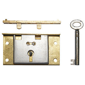 Box lock in brass - ABC Ironmongery