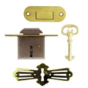 "Roll top desk lock. 1"" to pin - ABC Ironmongery"