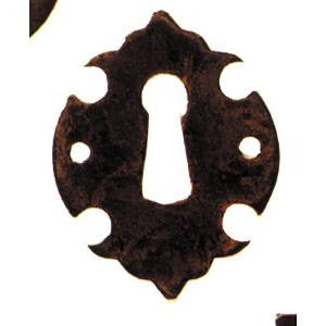 "Vertical escutcheon 1⅝"" x 1¼"" in antique brass - ABC Ironmongery"