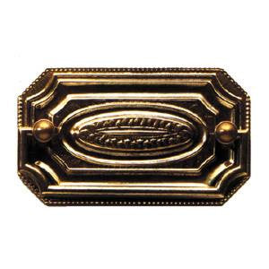 Plate handle in antique brass - ABC Ironmongery