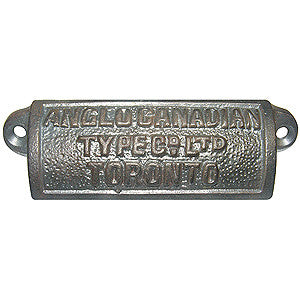Anglo-Canadian Cast Iron Drawer Pull
