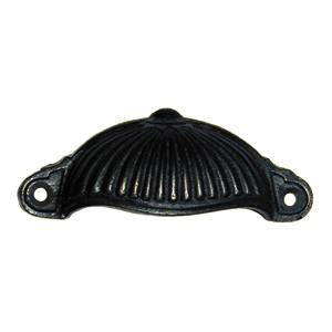 "Ribbed drawer pull 4½""x 1¾"" in cast iron - ABC Ironmongery"