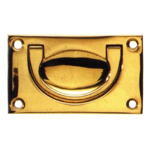 Military flush handle in brass - ABC Ironmongery