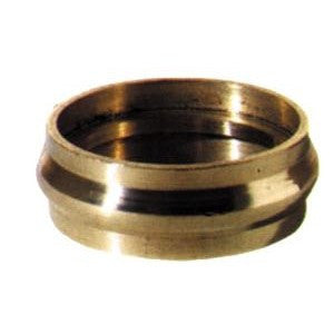 Collar ring in brass to suit screw plate castor - ABC Ironmongery