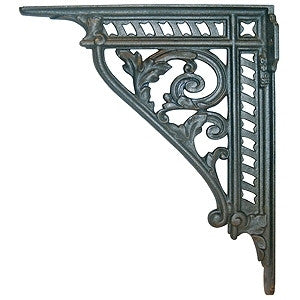 "Heavy cast iron bracket 10"" x 12"" with leaf design - ABC Ironmongery"