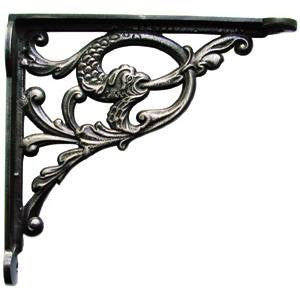 "Cast iron shelf bracket 10"" x 9½"" in serpent design - ABC Ironmongery"