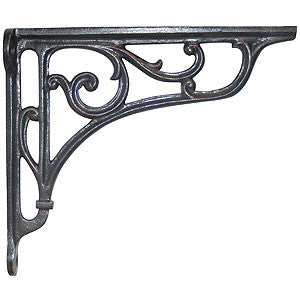 "Cast iron bracket 8"" x 7"" with scroll design - ABC Ironmongery"