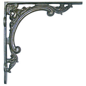 "Cast iron bracket 9½"" x 9"" in Victorian style - ABC Ironmongery"