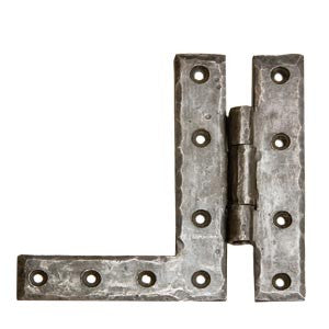 "Hand forged HL Hinge height 5¼"" x width 5½"" in black waxed finish - ABC Ironmongery"
