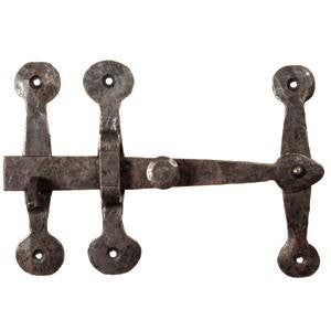 "Hand forged Suffolk latch part set 8"" x 5½"" in black waxed finish - ABC Ironmongery"
