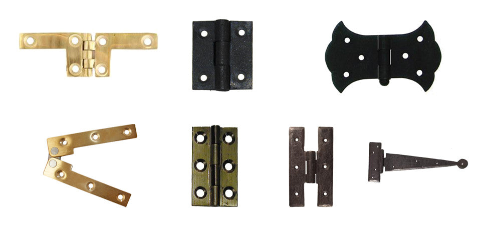 collection of images showing various hinges